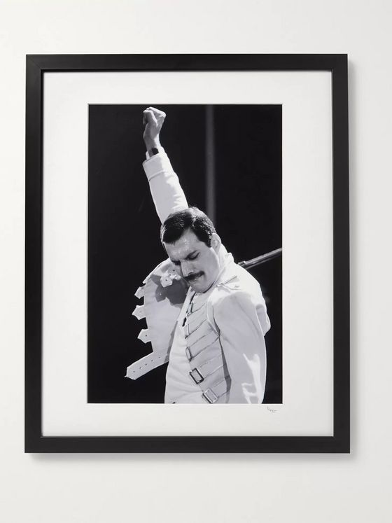 "Sonic Editions Framed 1986 Freddy Mercury on Stage Print, 16"" x 20"""