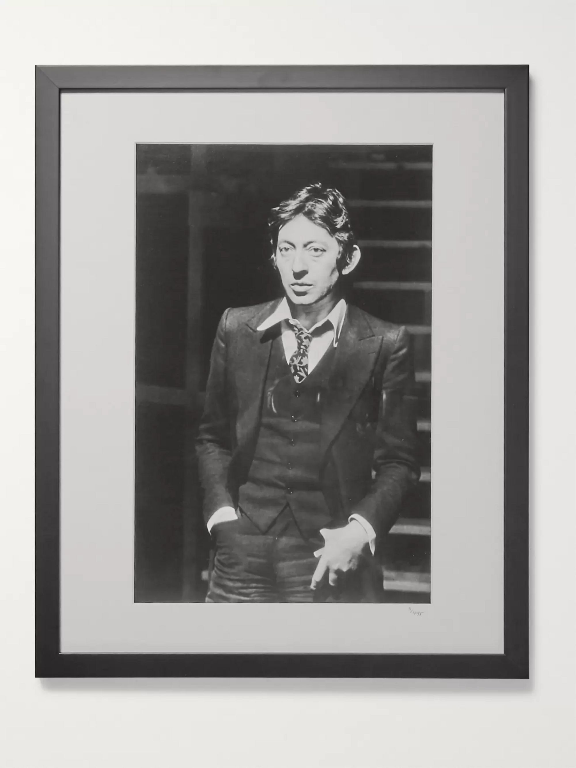 "Sonic Editions Framed 1968 Serge Gainsbourg Portrait, 16"" X 20"""
