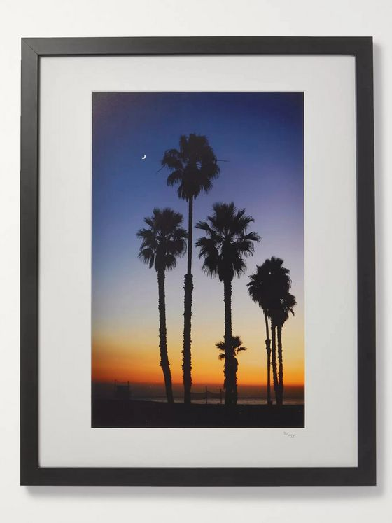 "Sonic Editions Framed 2018 Stephen Albanese LA Sunset Print, 16"" x 20"""