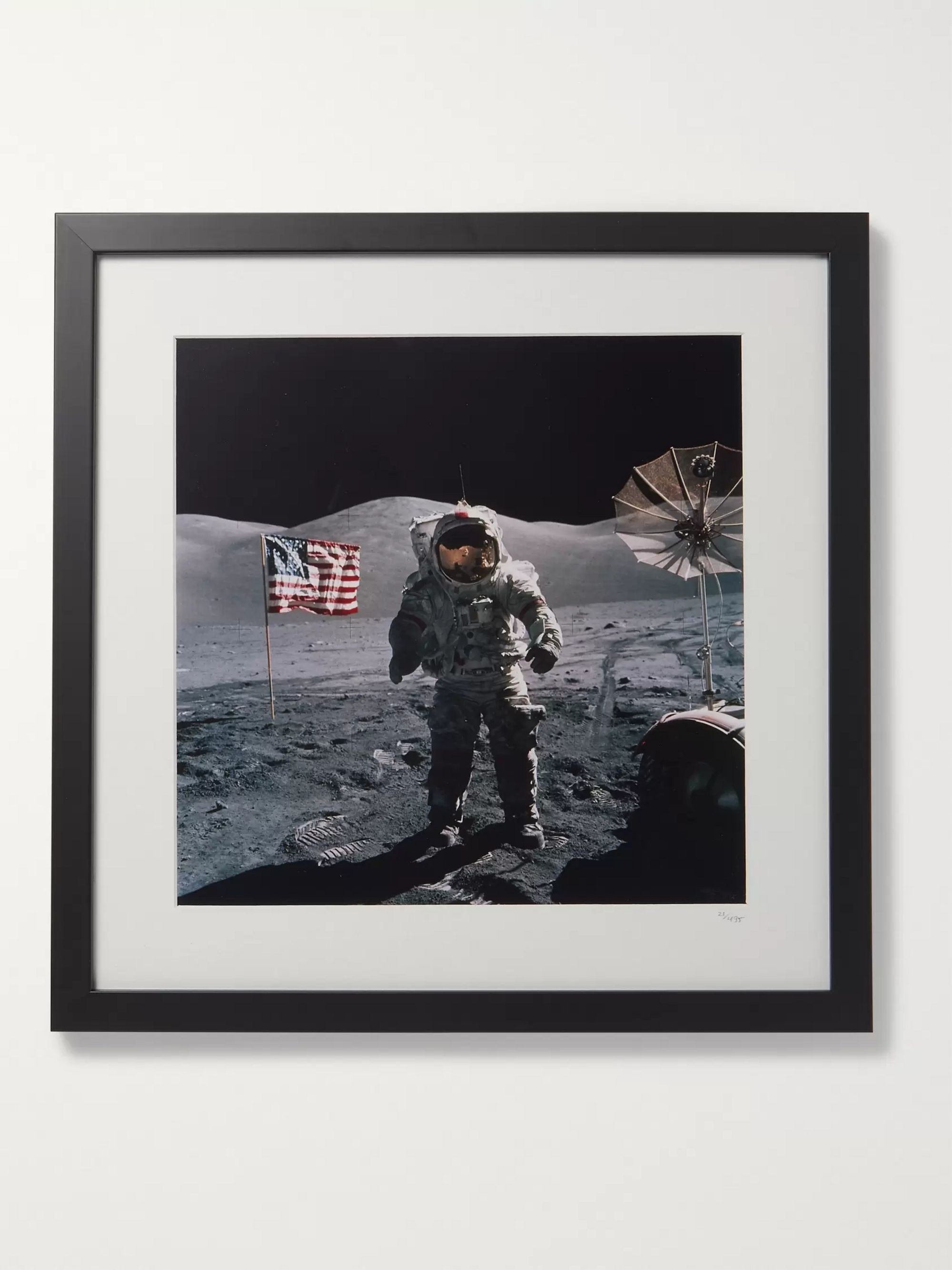 "Sonic Editions Framed 1972 Apollo 17 Flag Print, 16"" x 20"""