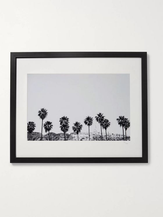 "Sonic Editions Framed 2015 Stephen Albanese Hollywood Palm Trees Print, 16"" x 20"""