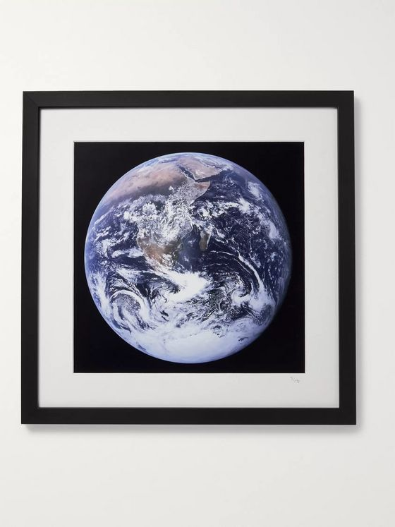 "Sonic Editions Framed 1972 Apollo 17 View of Earth Print, 16"" x 16"""