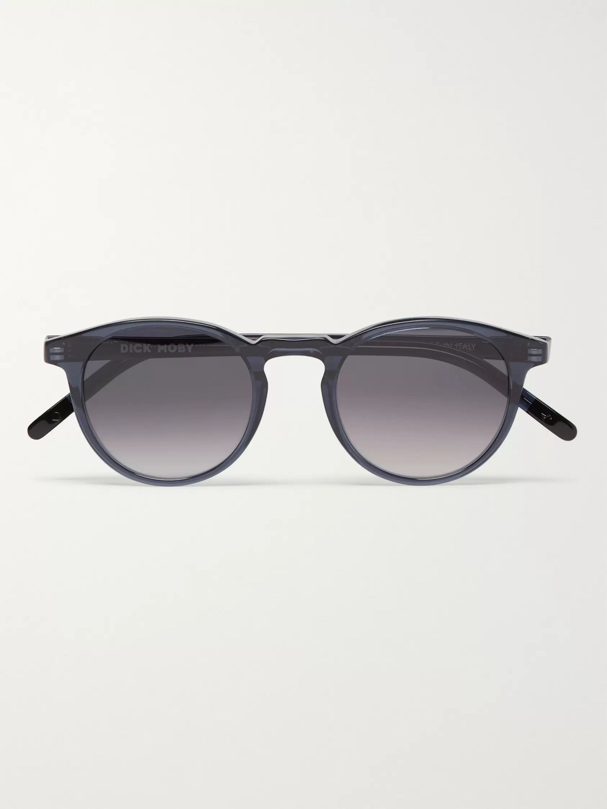 Dick Moby Seattle Round-Frame Acetate Sunglasses