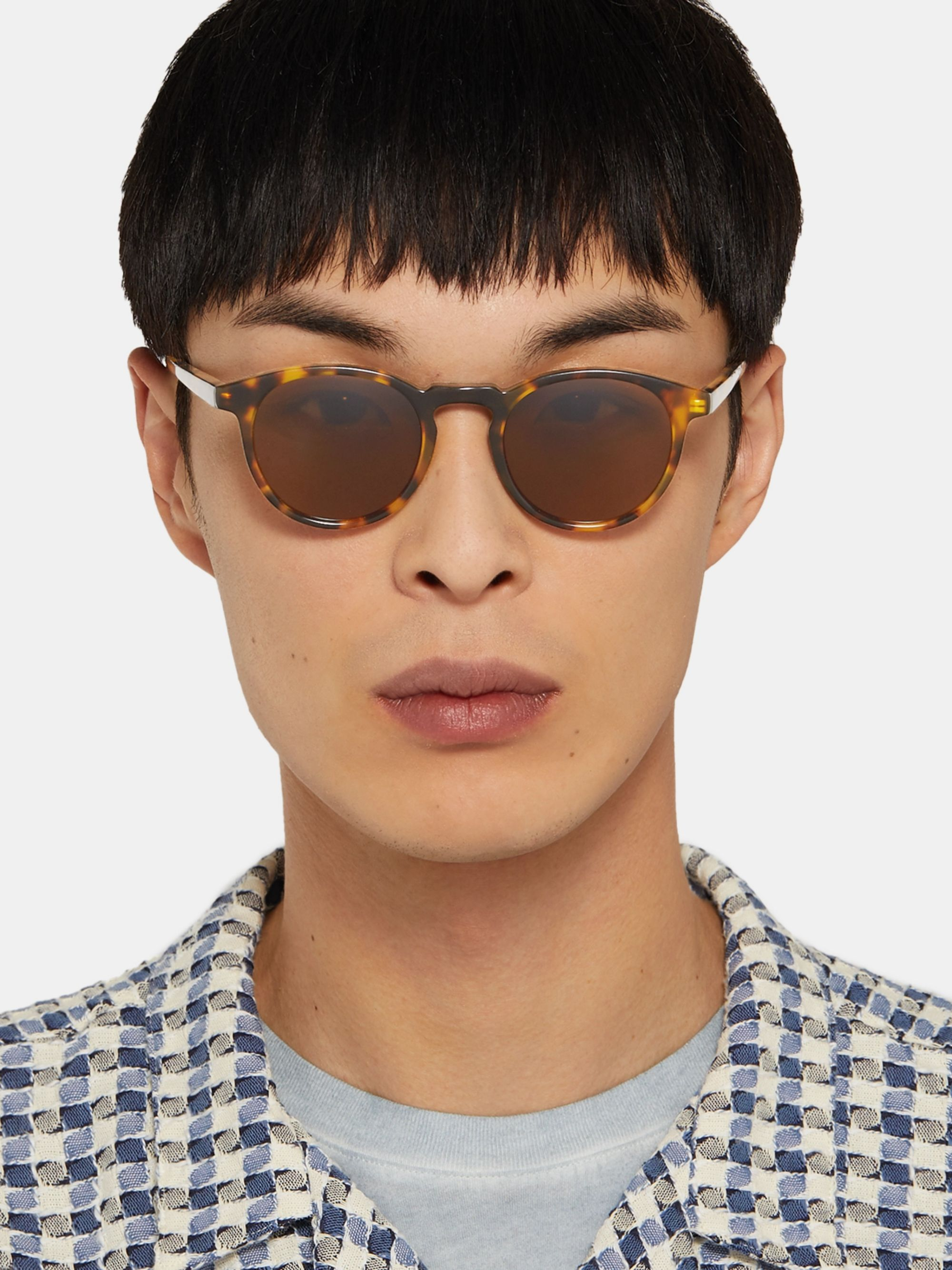 Dick Moby Seattle Round-Frame Tortoiseshell Acetate Sunglasses