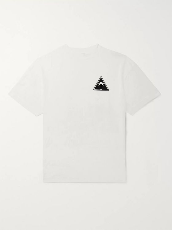 Palm Angels Logo-Print Cotton-Jersey T-Shirt