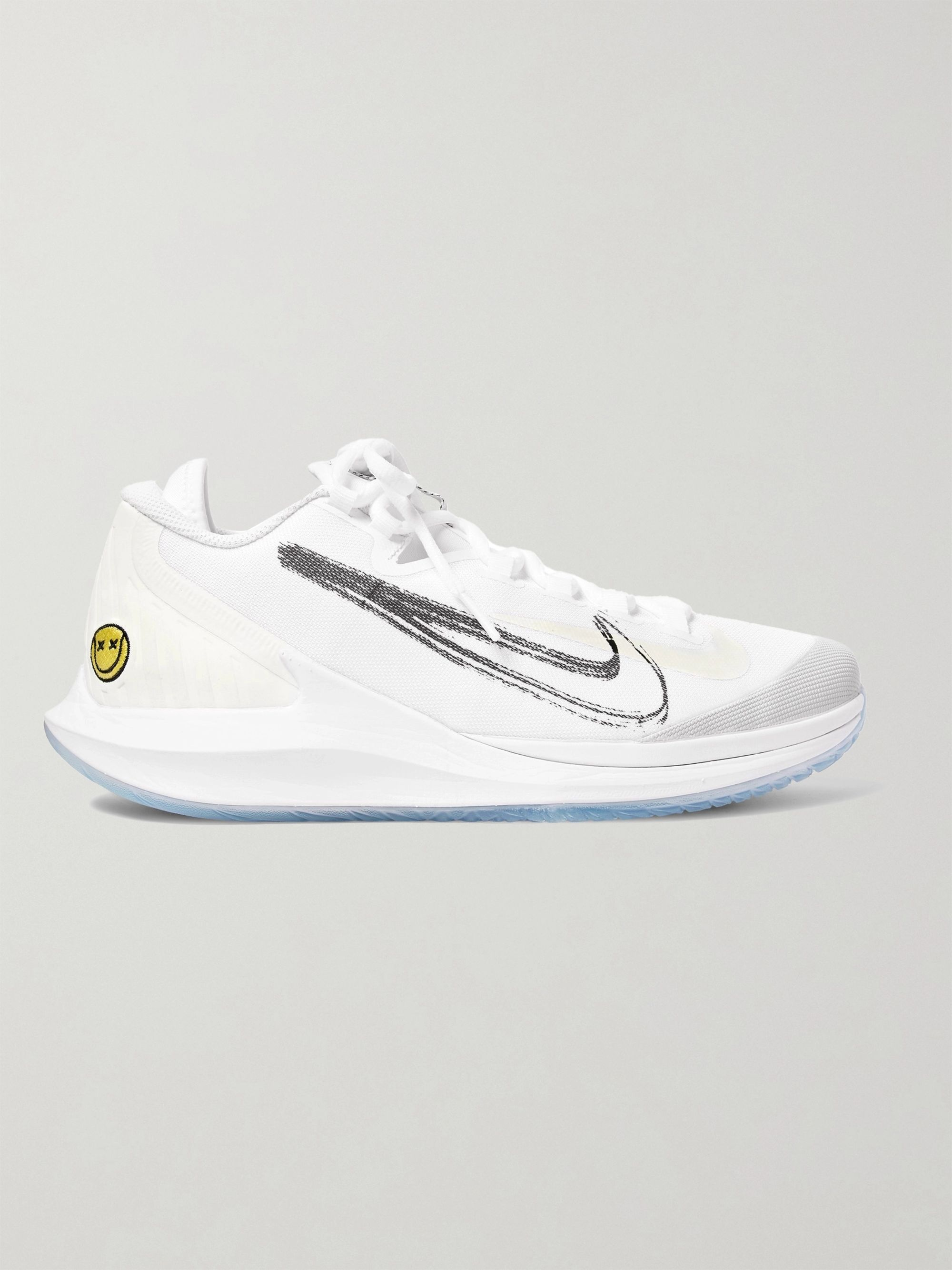 NikeCourt Air Zoom Zero HC Rubber Panelled Mesh Tennis Sneakers