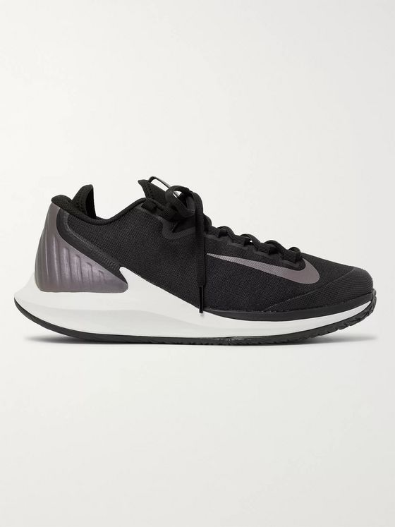Nike Tennis NikeCourt Air Zoom Zero Rubber-Trimmed Canvas Tennis Sneakers