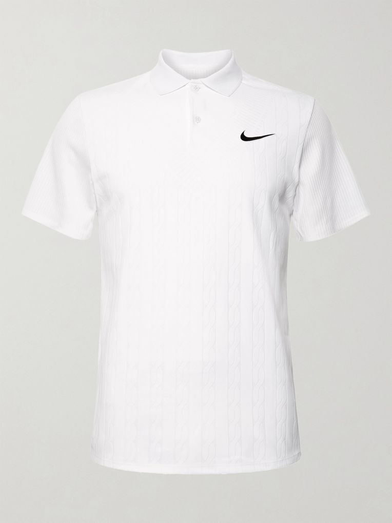 Nike Tennis Slim-Fit NikeCourt Advantage Dri-FIT Jacquard Tennis Polo Shirt