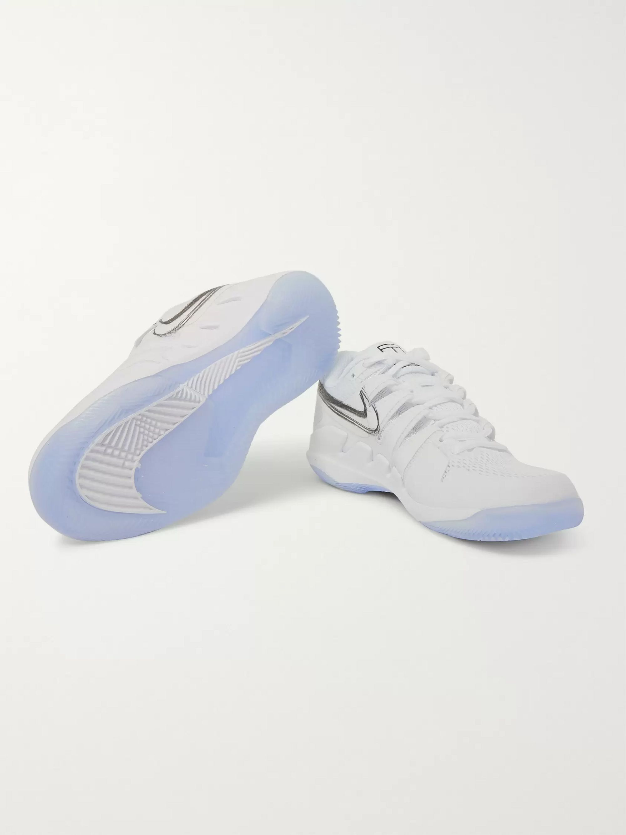 Nike Tennis Air Zoom Vapor X Rubber And Mesh Tennis Sneakers