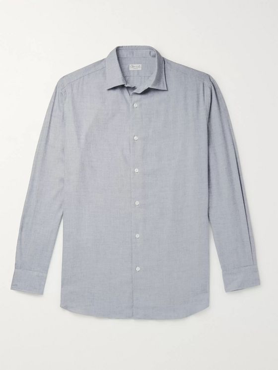 Charvet Cotton and Wool-Blend Flannel Shirt