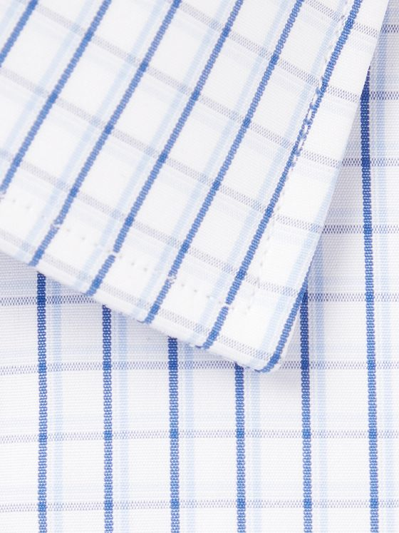 CHARVET Blue Checked Cotton-Poplin Shirt
