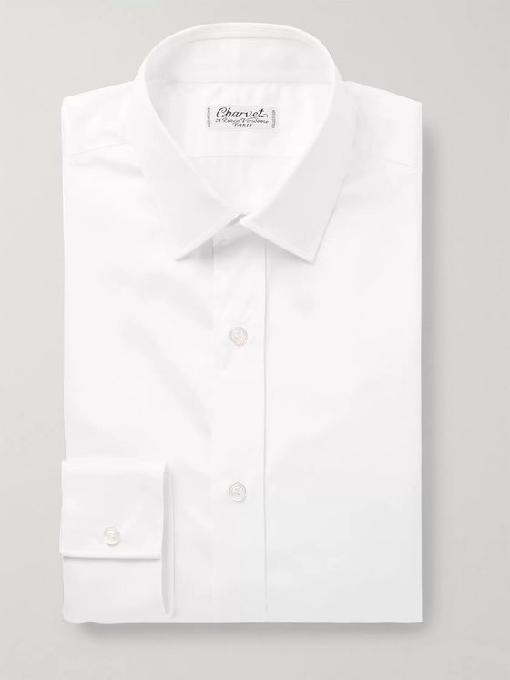 CHARVET White Cotton-Satin Shirt