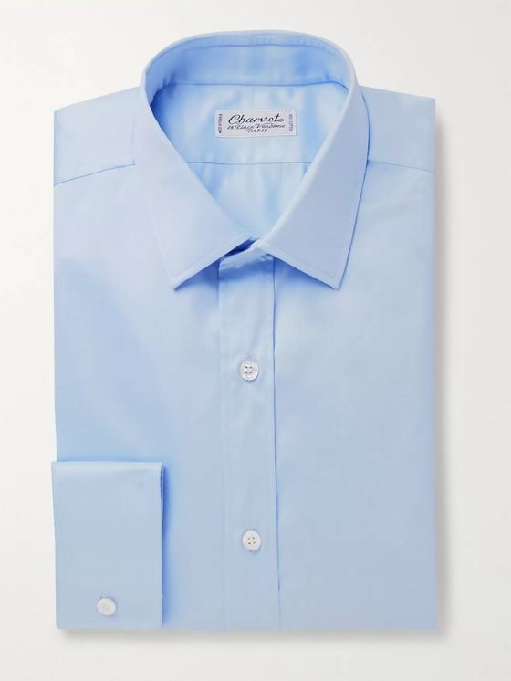 Charvet Light-Blue Slim-Fit Cotton Shirt