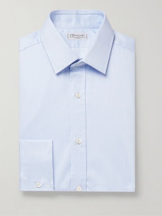 Charvet Light-Blue Cotton Shirt