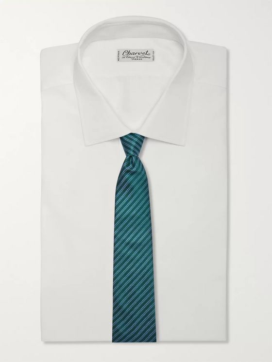 Charvet 8.5cm Striped Silk-Jacquard Tie