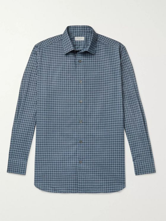 Charvet Checked Cotton Shirt