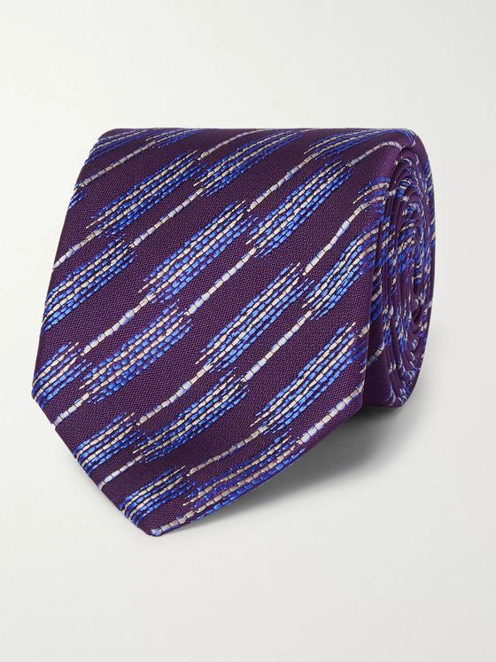 Charvet 7.5cm Embroidered Silk Tie