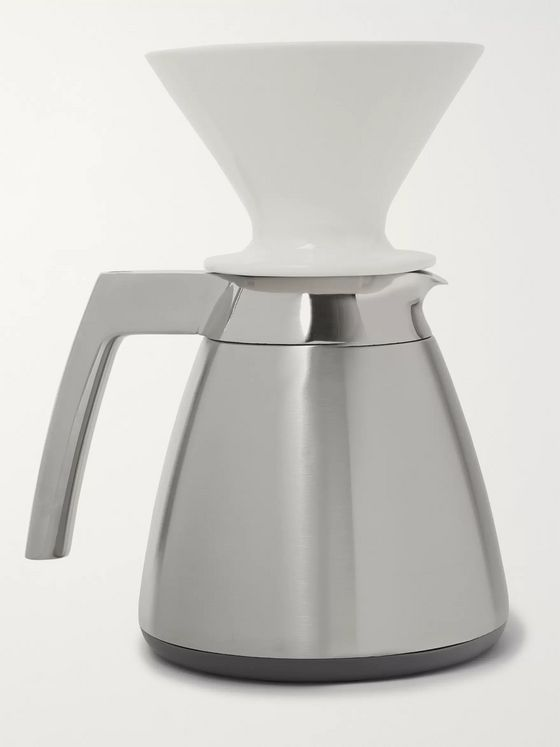 Ratio Coffee Stainless Steel Thermal Carafe with Porcelain Dripper