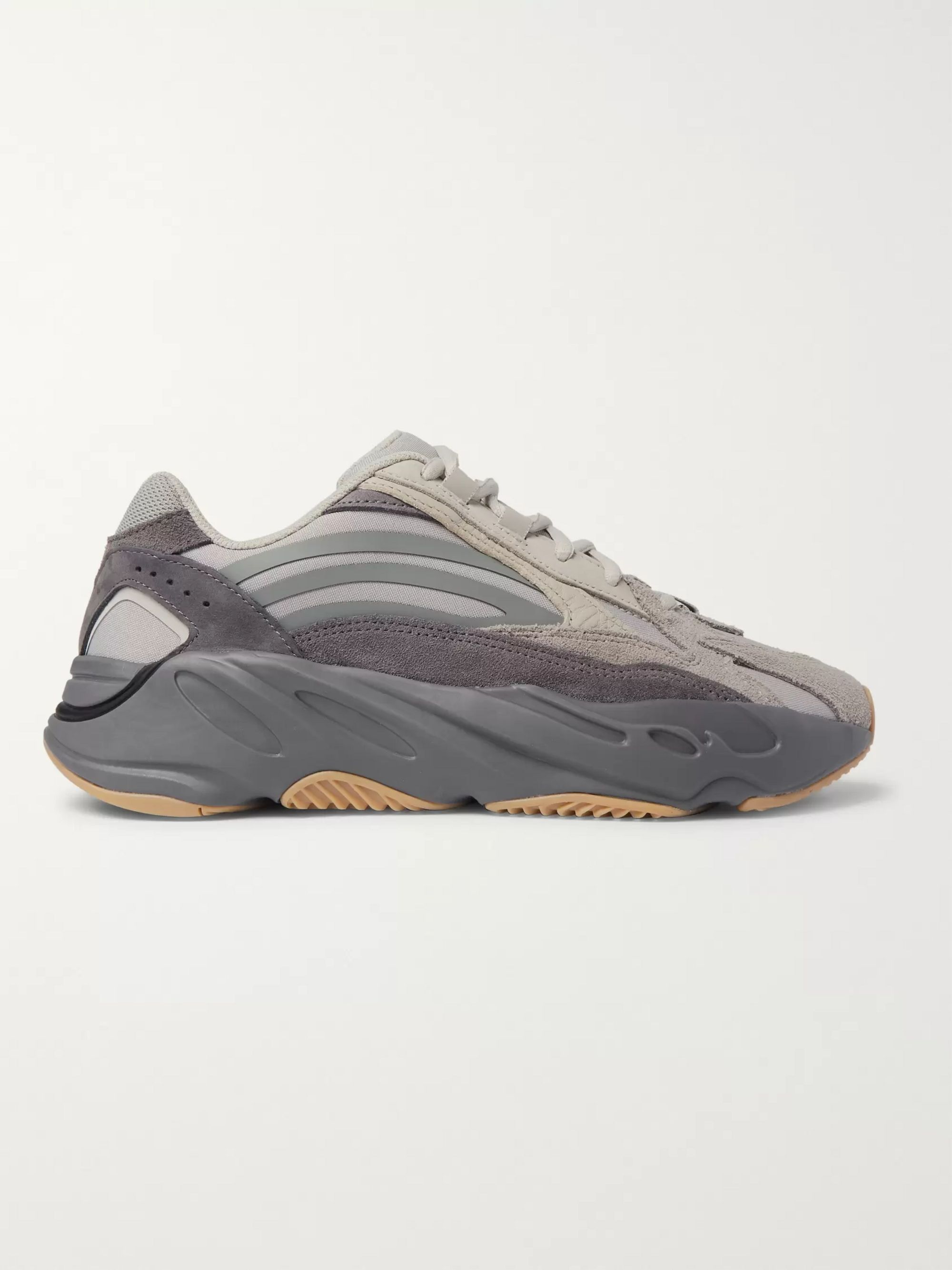 adidas Originals Yeezy Boost 700 V2 Nubuck, Leather and Mesh Sneakers