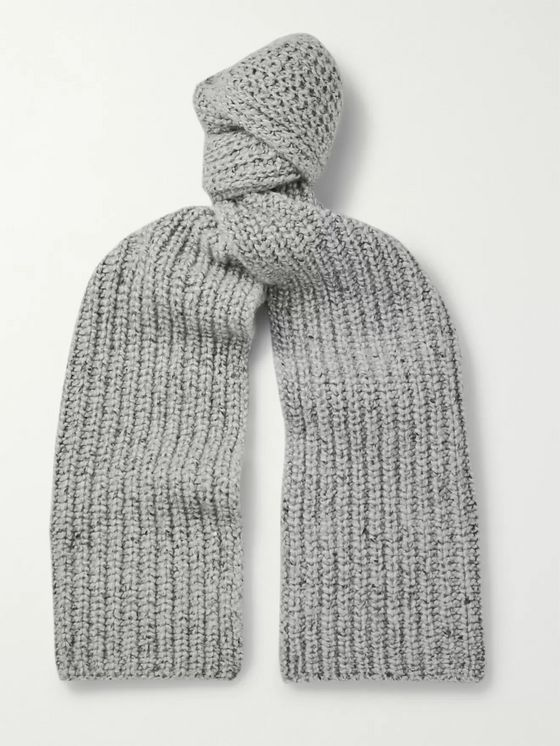 Johnstons of Elgin Ribbed Mélange Cashmere Scarf