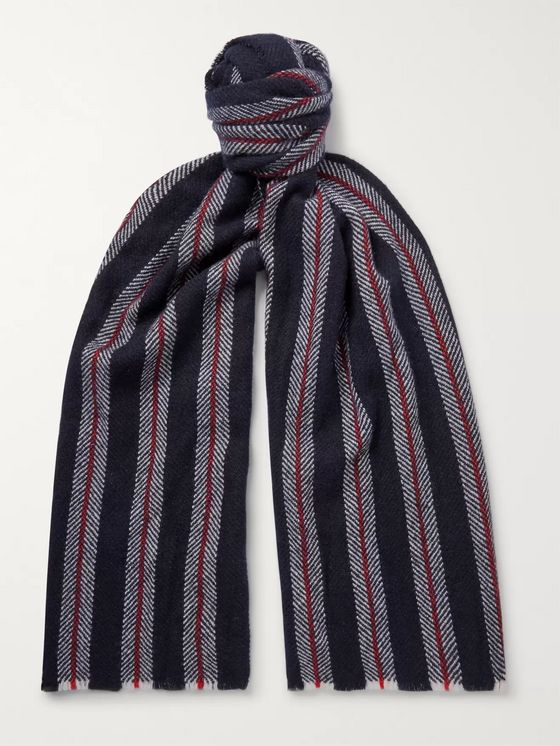 Johnstons of Elgin Striped Cashmere Scarf