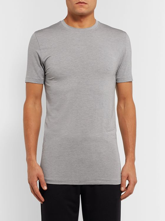 Zimmerli Slim-Fit Mélange Stretch Modal-Blend Jersey T-Shirt
