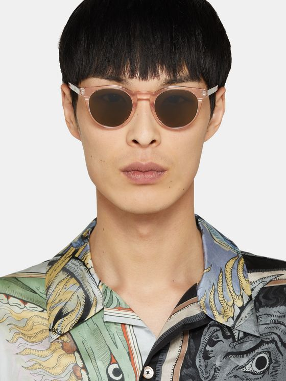 Paul Smith Round-Frame Acetate Sunglasses