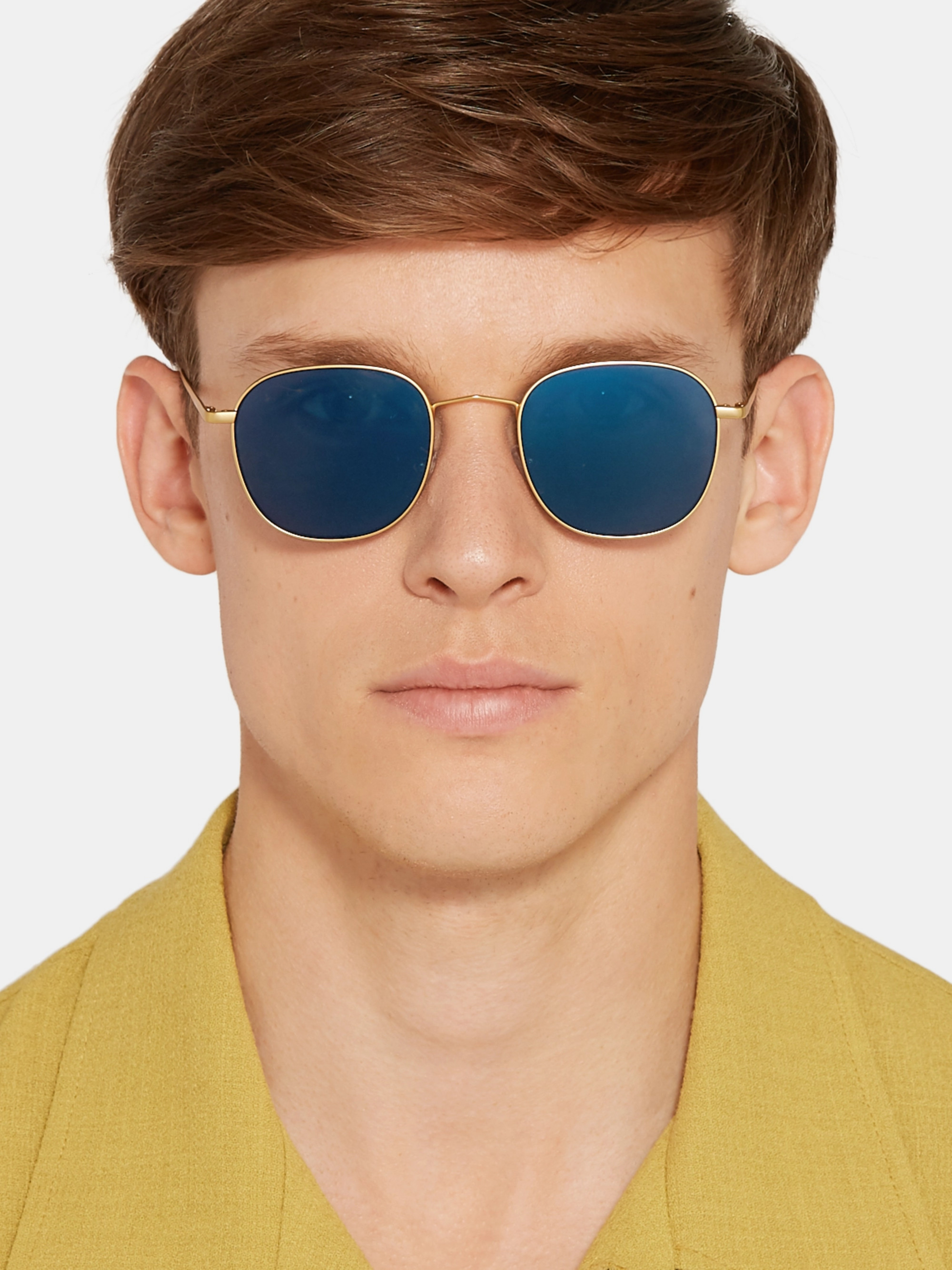 Paul Smith Round Gold-Tone Sunglasses