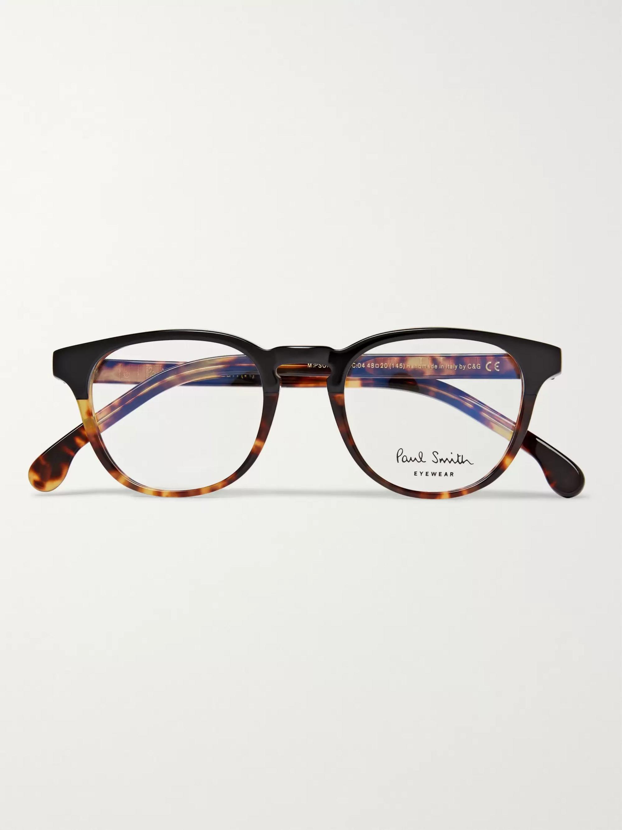 796642f0b Tortoiseshell Round-Frame Acetate Optical Glasses | Paul Smith | MR ...