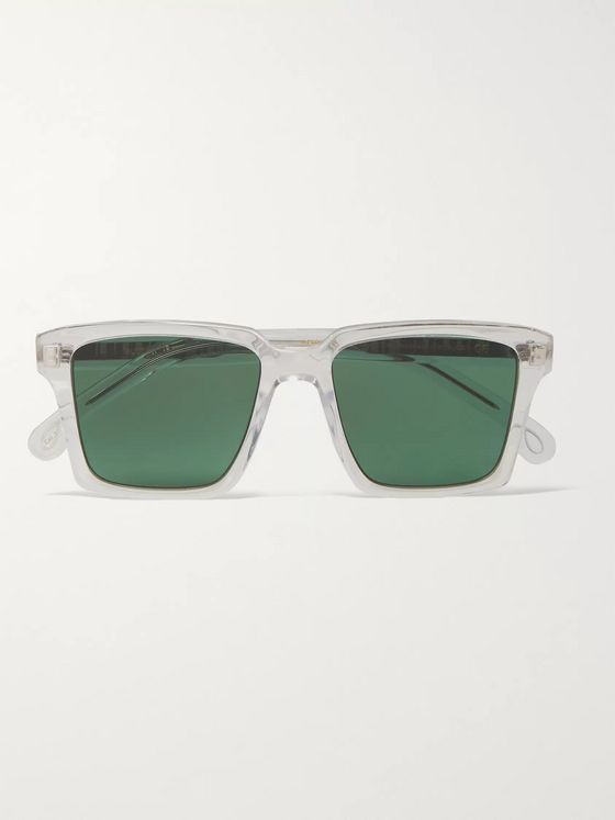 Paul Smith Austin Square-Frame Acetate and Silver-Tone Sunglasses
