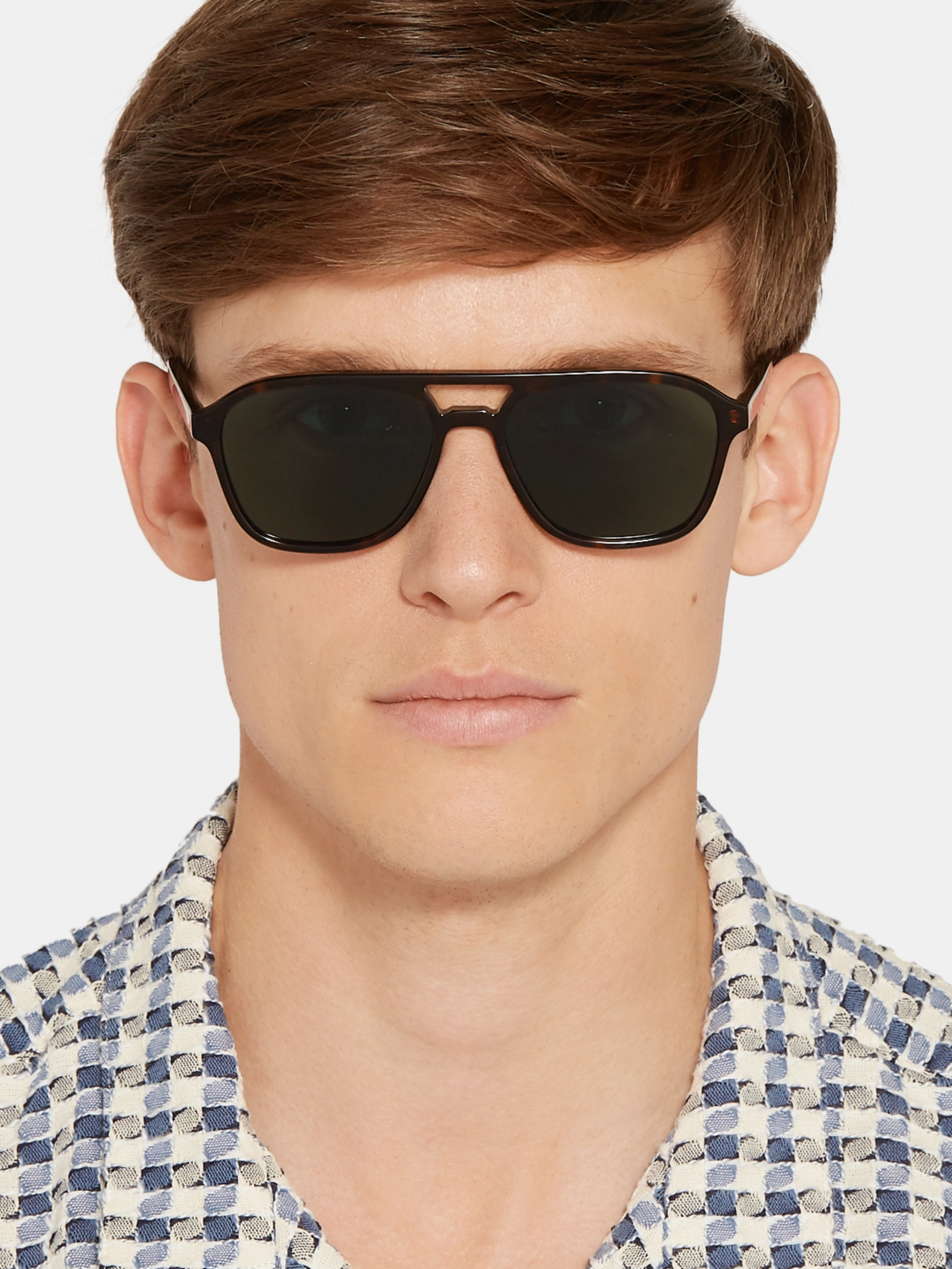 Paul Smith Alder Aviator-Style Tortoiseshell Acetate Sunglasses