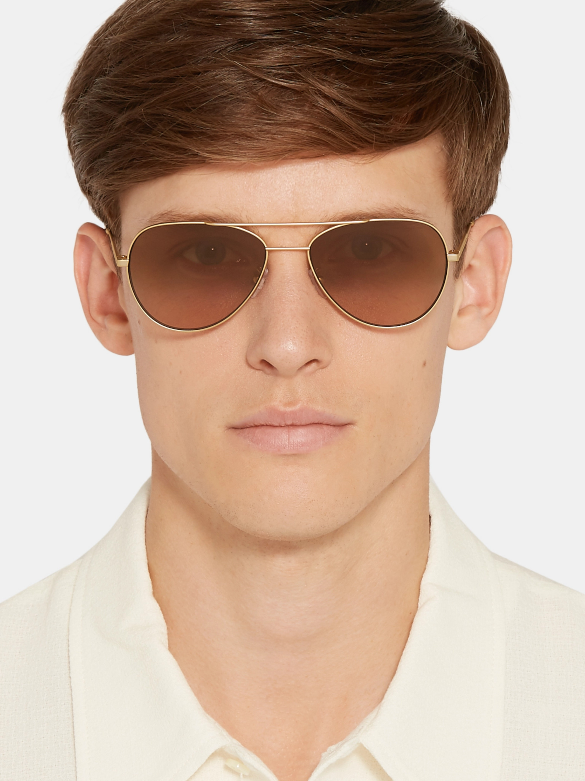 Paul Smith Aviator-Style Gold-Tone and Tortoiseshell Acetate Sunglasses