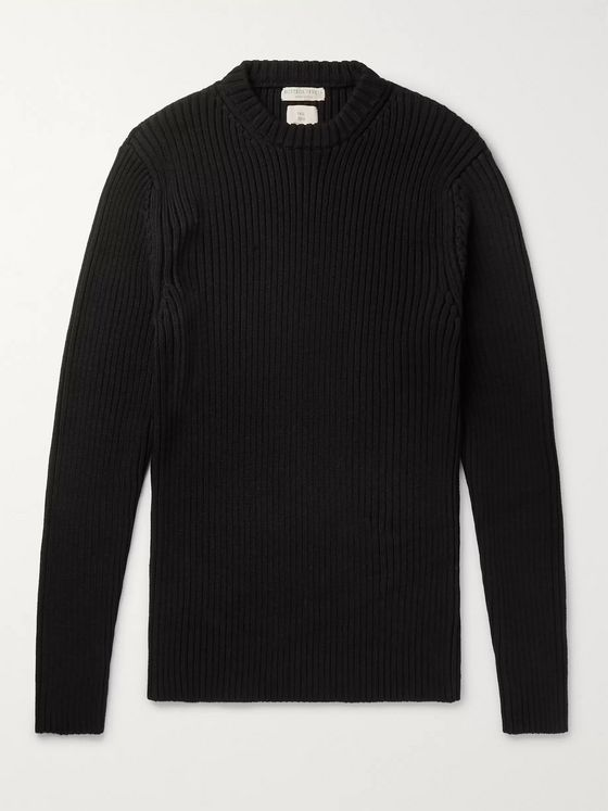 BOTTEGA VENETA Slim-Fit Ribbed Cotton-Blend Sweater
