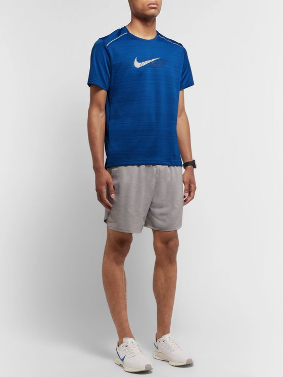 Nike Running Miler Flash Logo-Print Dri-FIT and Mesh T-Shirt