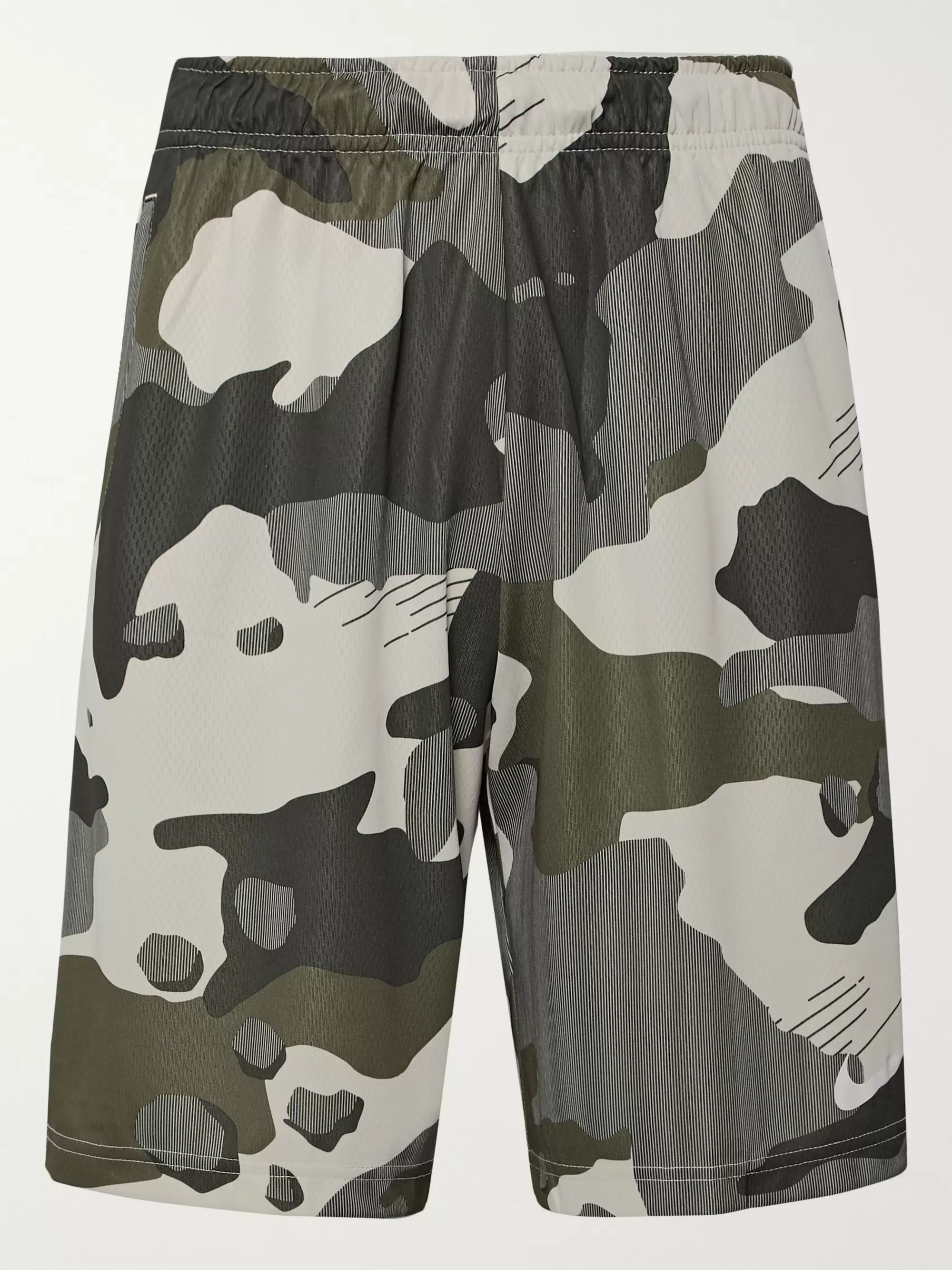 Wide Leg Camouflage Print Mesh Backed Dri FIT Shorts