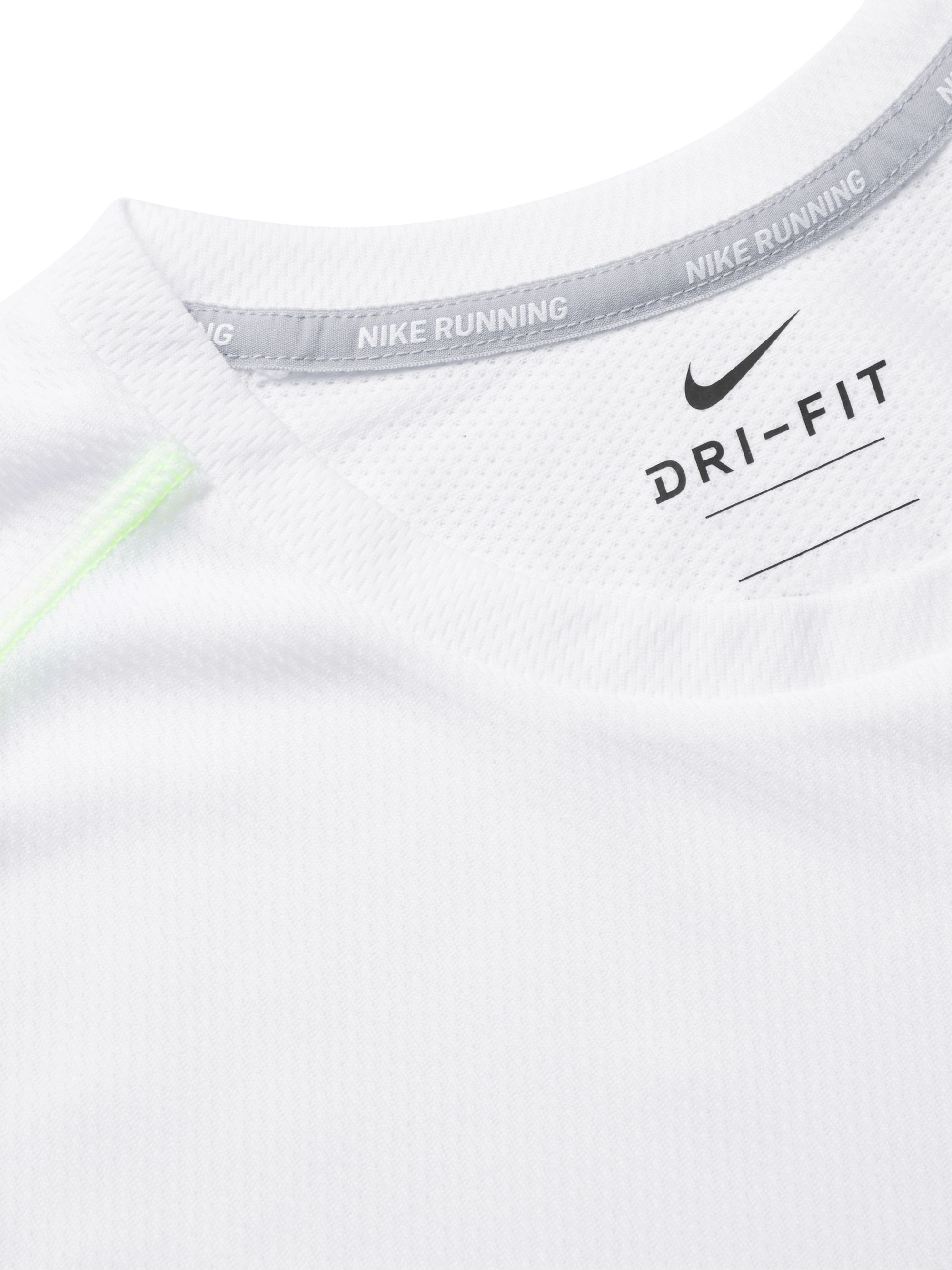 Nike Running Logo-Print Breathe Dri-FIT Mesh T-Shirt