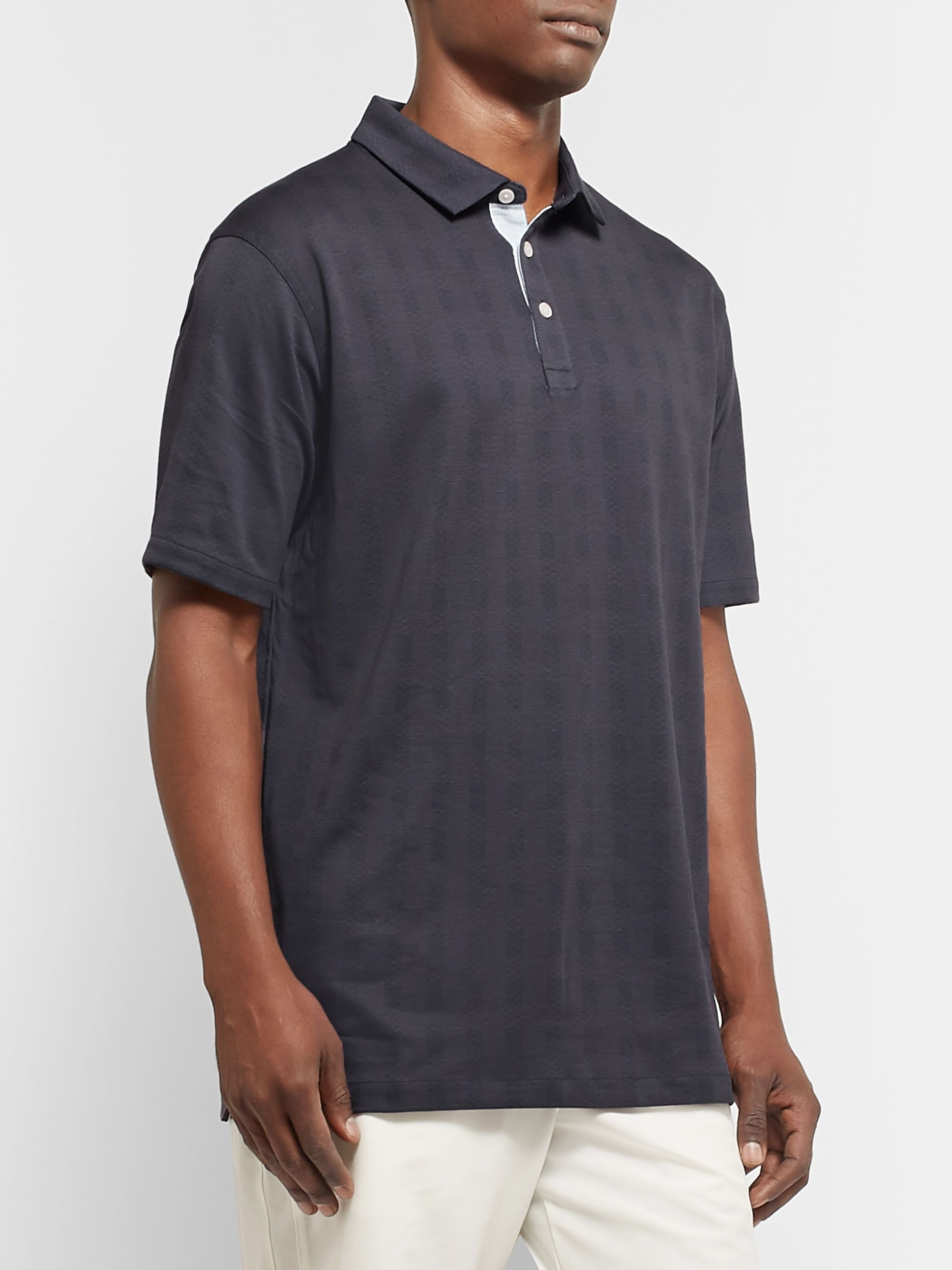 Nike Golf Player Checked Dri-FIT Polo Shirt