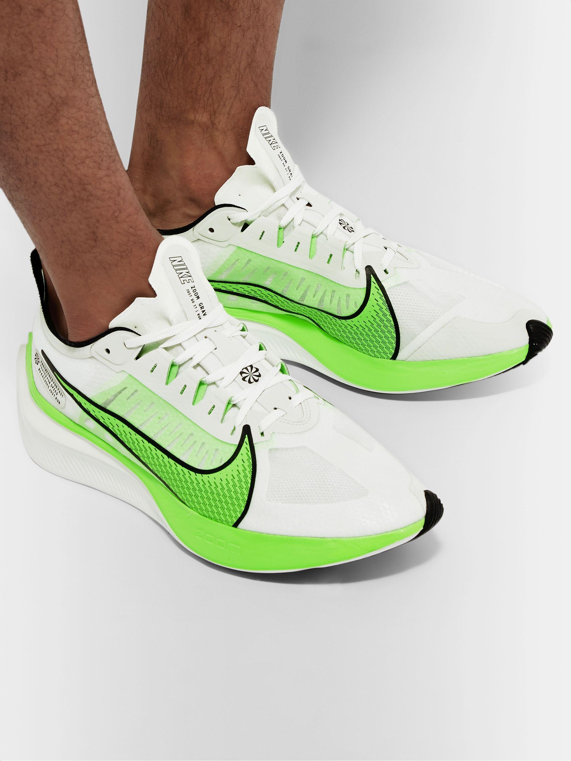 White Zoom Gravity Logo-Print Ripstop Running Sneakers