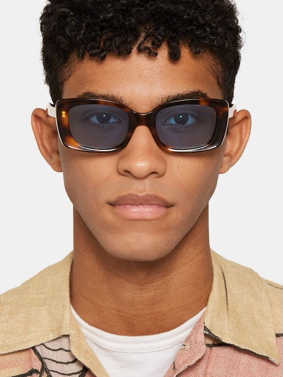 FLATLIST Eazy Rectangle-Frame Tortoiseshell Acetate Sunglasses