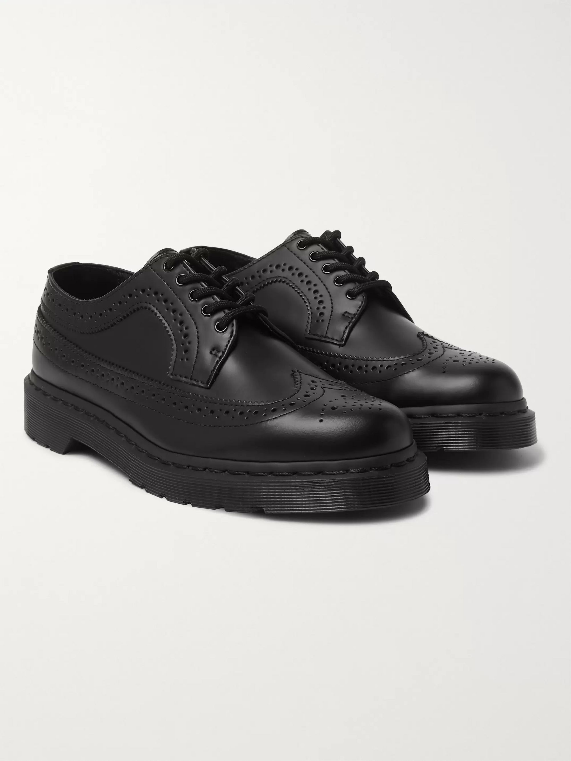 Mono Leather Wingtip Brogues by Dr. Martens