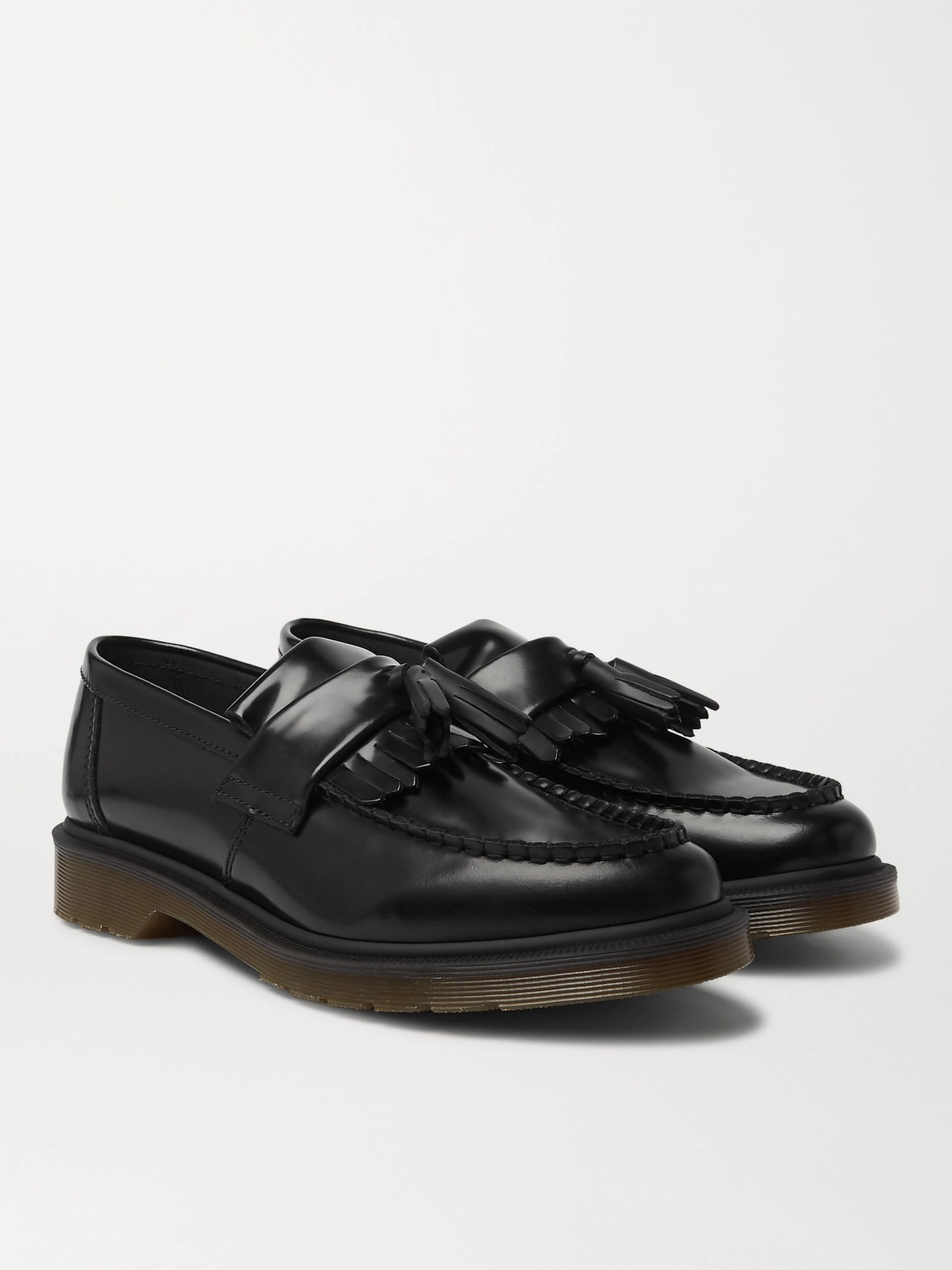 Dr. Martens Adrian Polished-Leather Tasselled Loafers