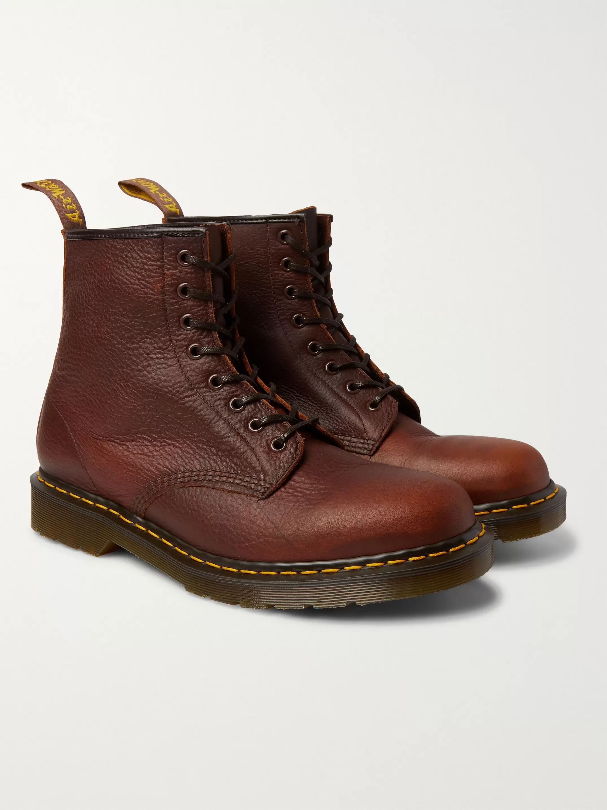 Brown 1460 Full Grain Leather Boots | Dr. Martens | MR PORTER