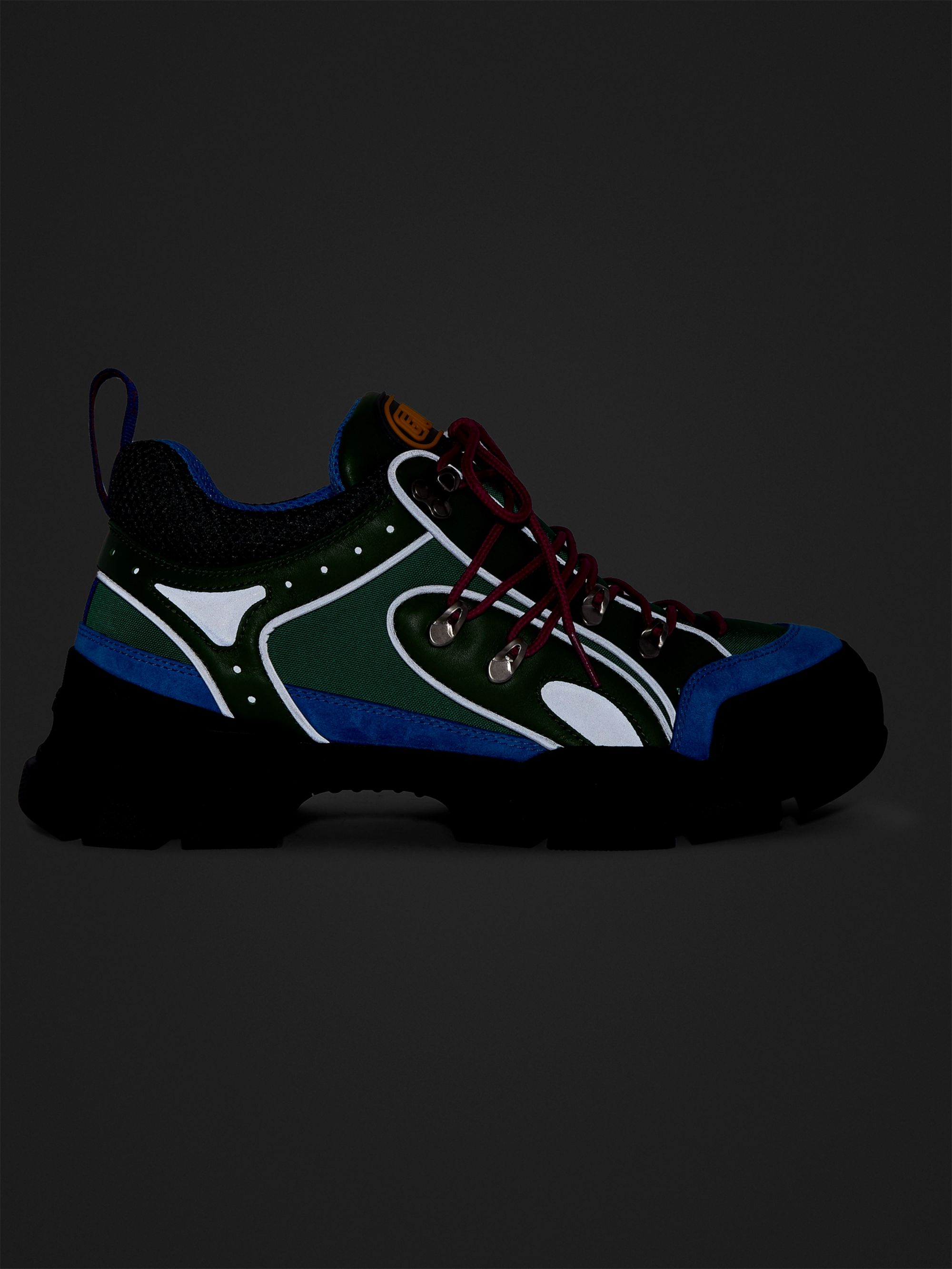 GUCCI Flashtrek Reflective Leather, Suede and Mesh Sneakers