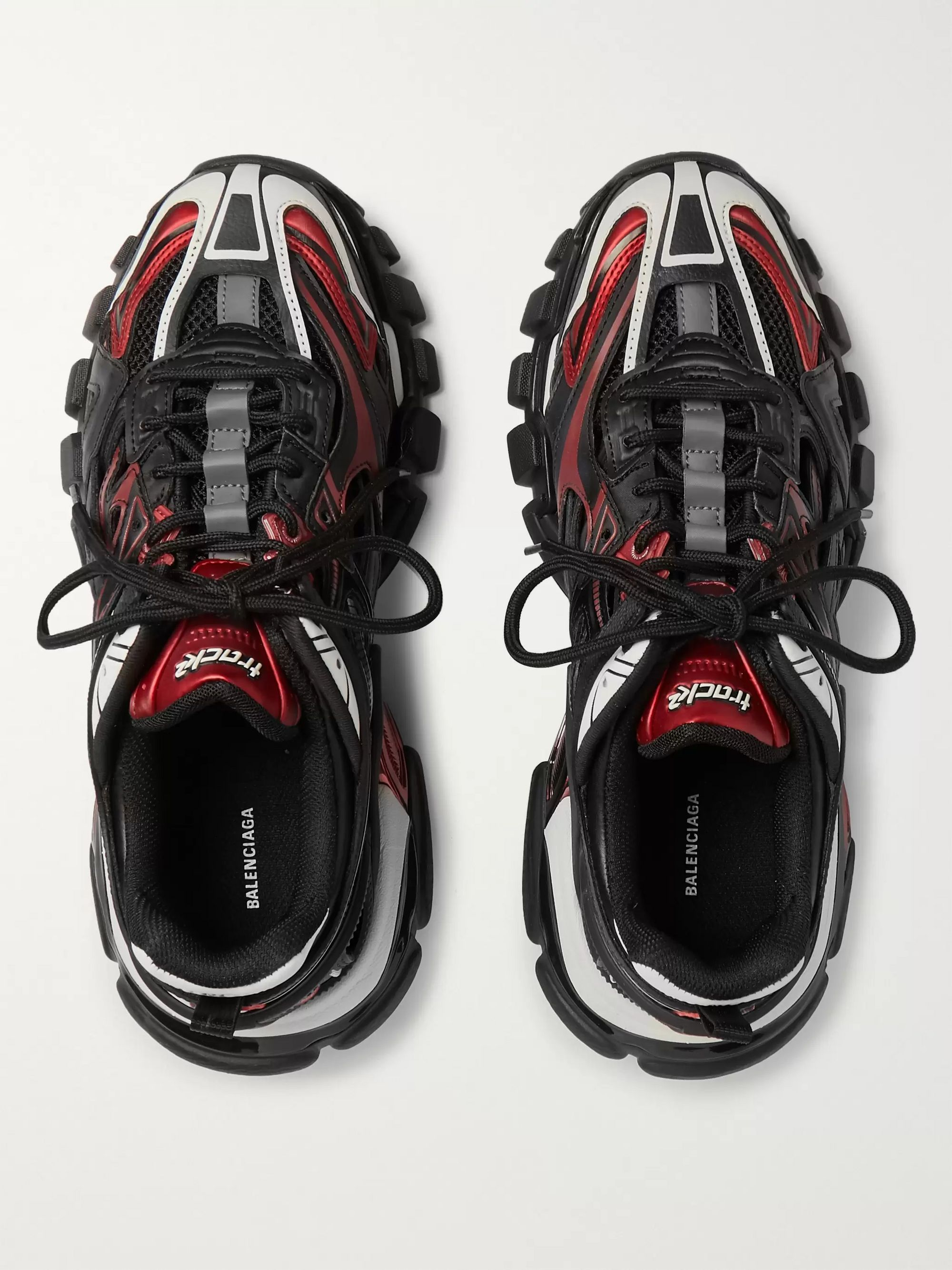 Balenciaga Track 2 Nylon, Mesh and Rubber Sneakers