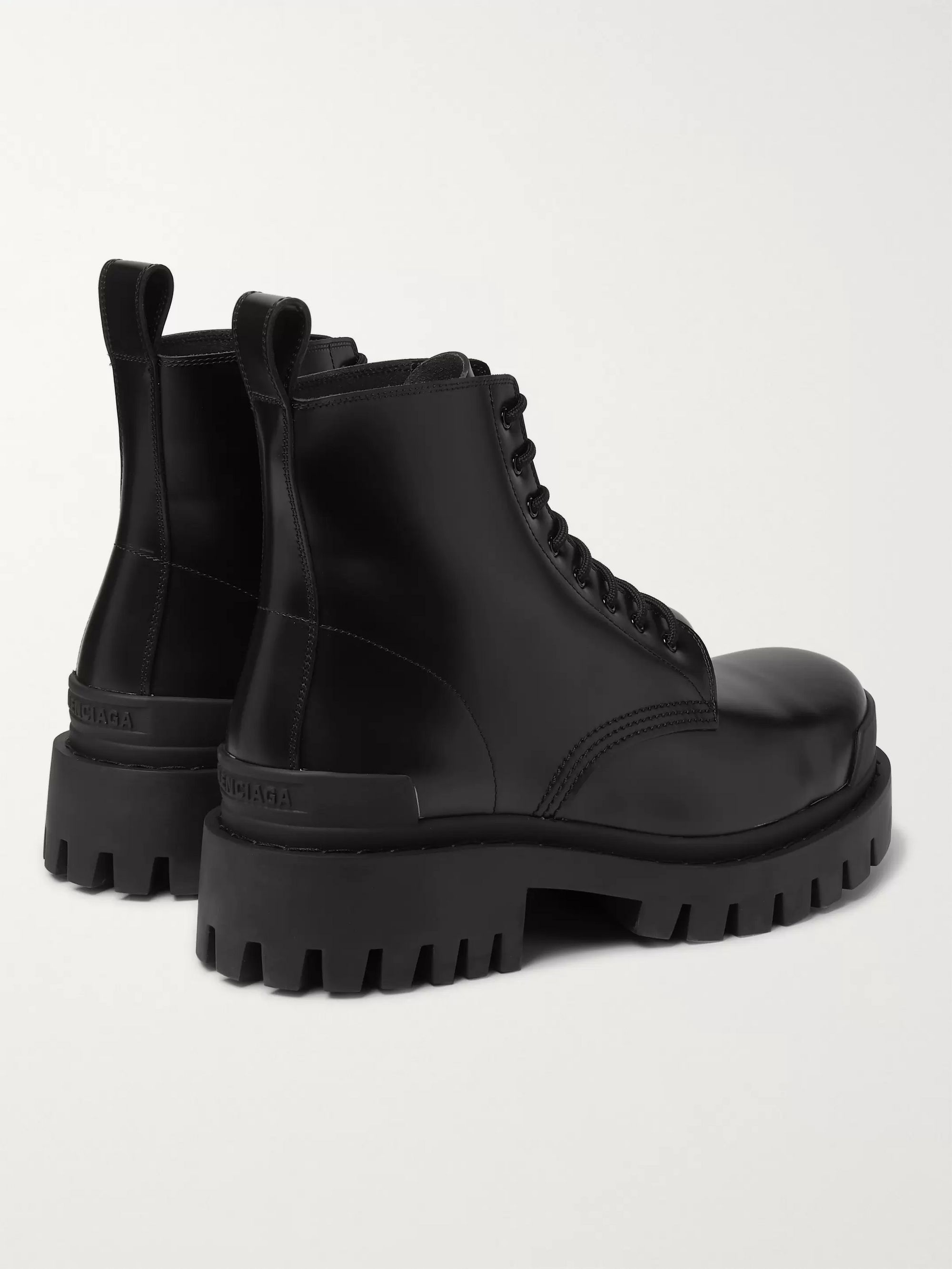 Balenciaga Strike Leather Boots