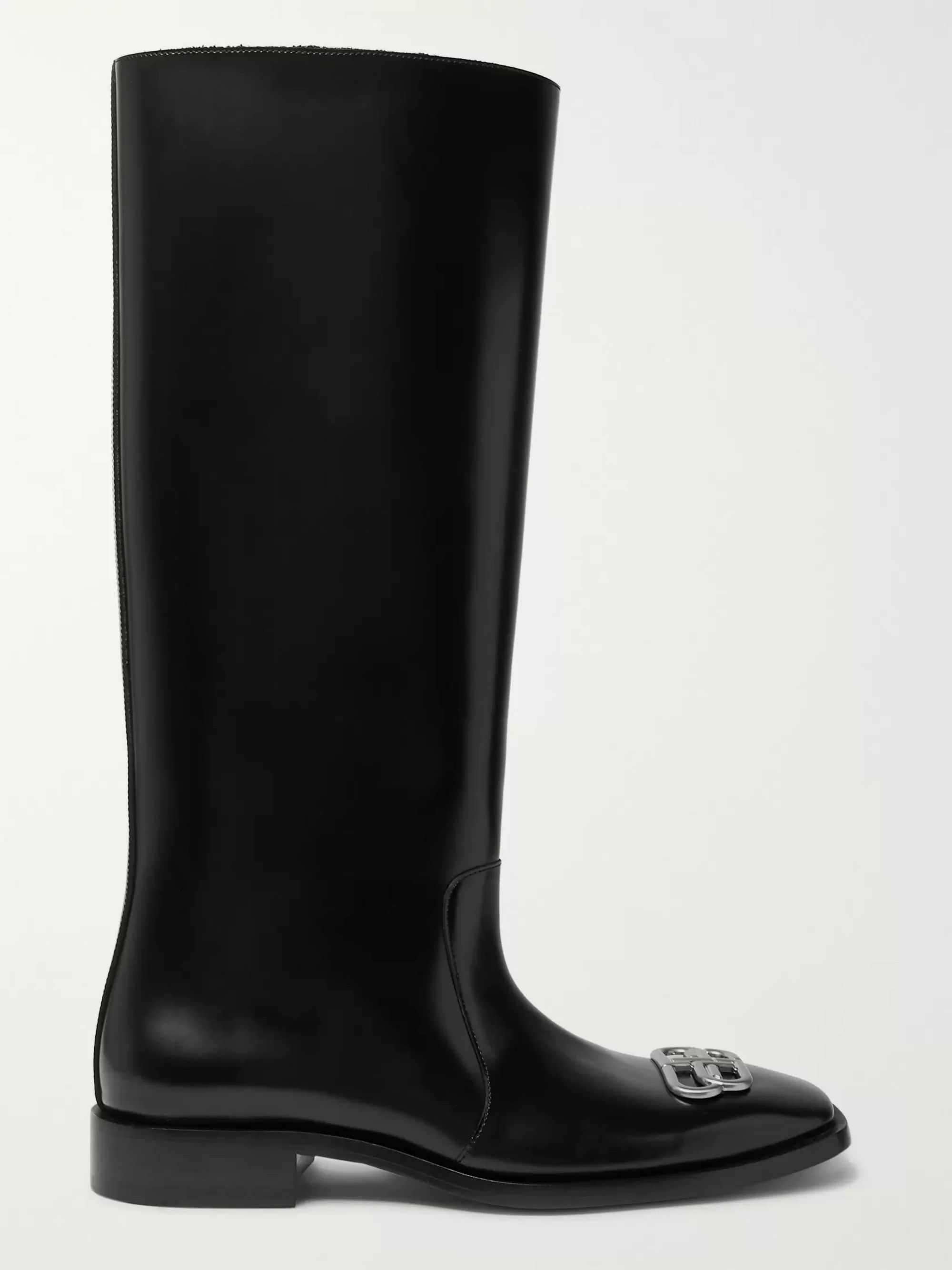Balenciaga Jive Logo-Embellished Leather Boots