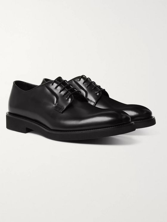 PAUL SMITH Ludlow Polished-Leather Derby Shoes