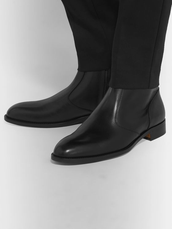 Paul Smith Pembrey Polished-Leather Boots