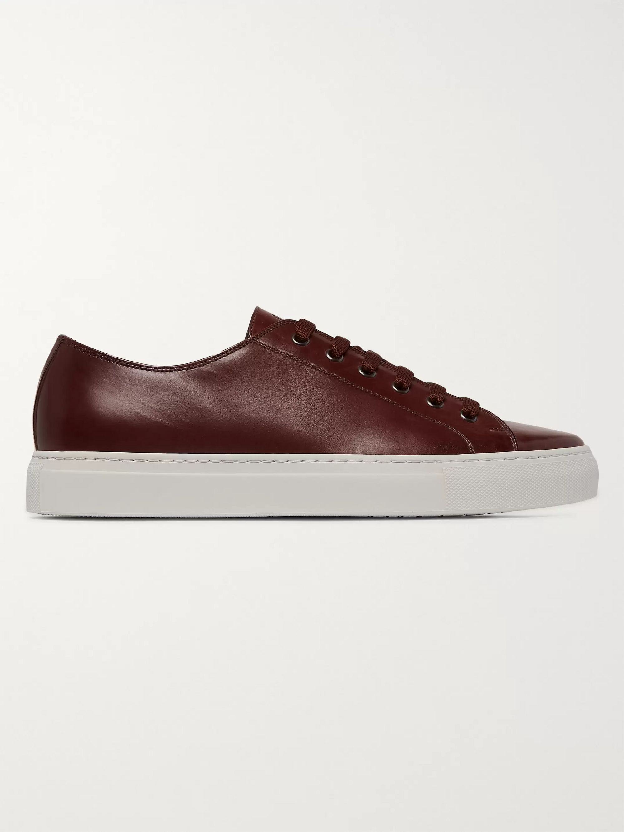 Paul Smith Sotto Burnished-Leather Sneakers