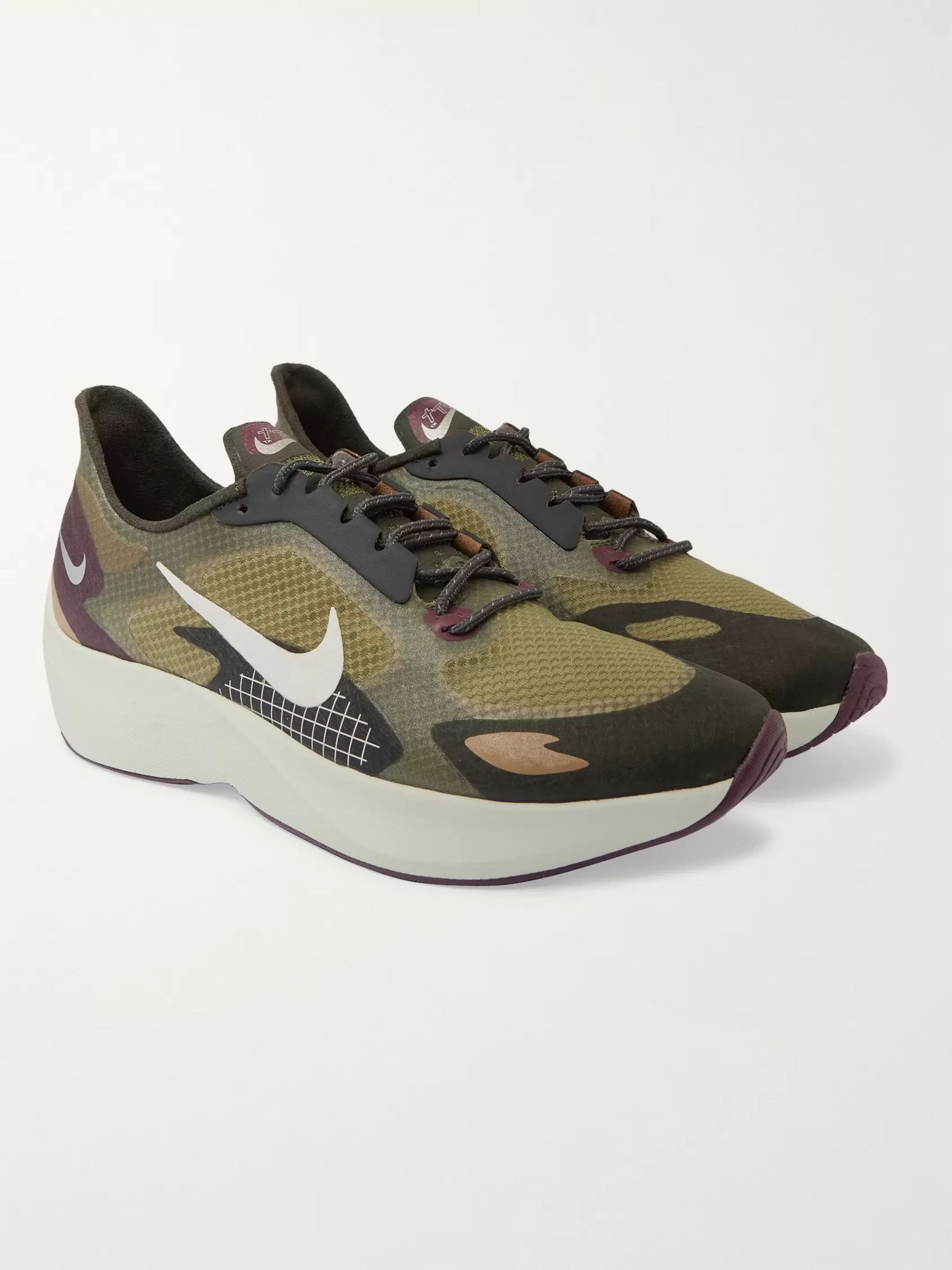 Nike Running Vapor Street PEG Rubber and Mesh Running Sneakers